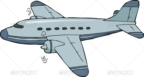 Drawn aircraft transparent background #7