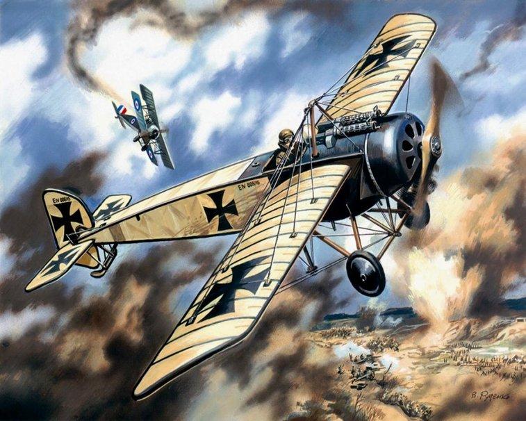Drawn airplane world war 1 aircraft #8