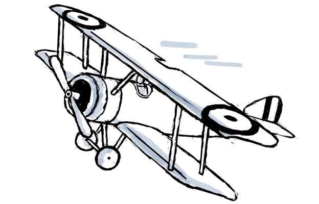 Drawn airplane world war 1 aircraft #1