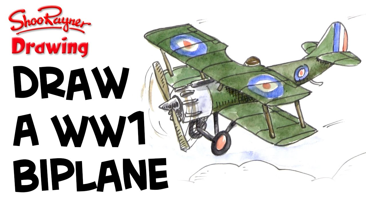 Drawn airplane world war 1 aircraft #4