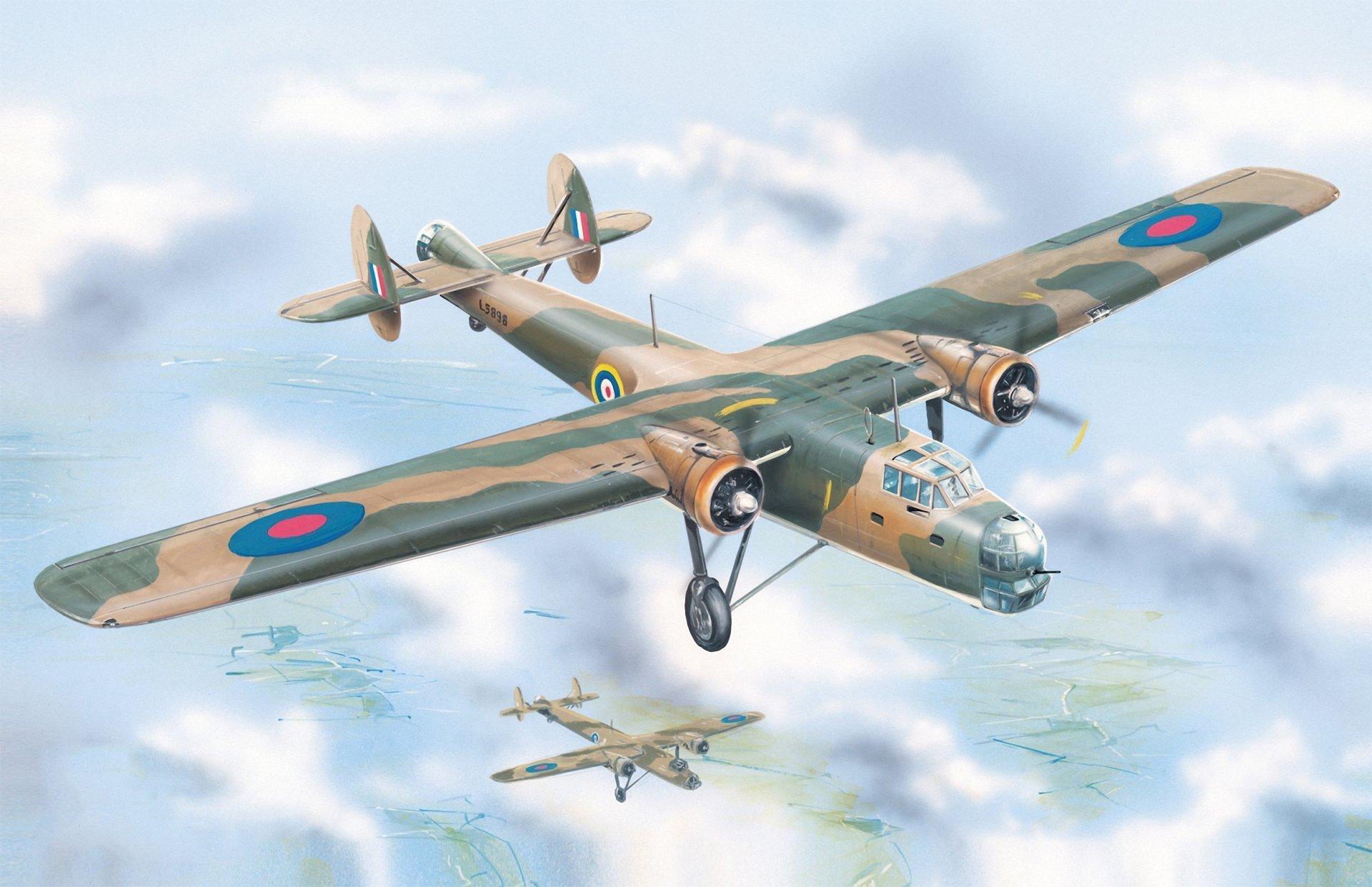 Drawn aircraft ww2 airplane British aircraft art painting airplane
