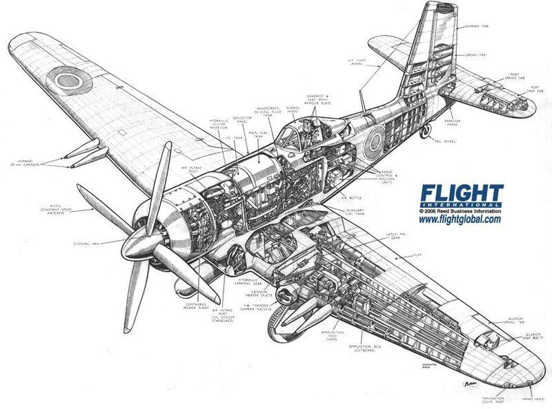 Drawn aircraft ww2 airplane Plane (1) Fighter Fairey com:
