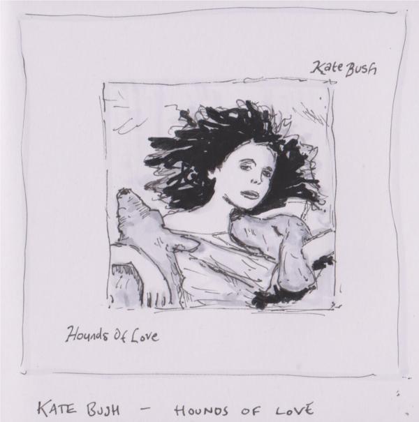 Drawn album cover Hand Album kate_bush_hounds_of_love Versions Drawn