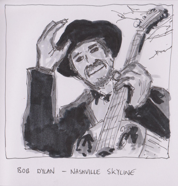 Drawn album cover arty Covers Skyline Skyline Bob –