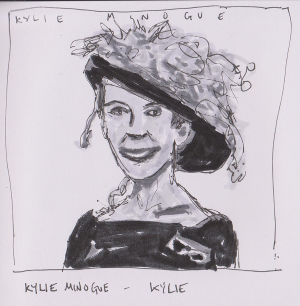 Drawn album cover arty Album Minogue Kylie Kylie –