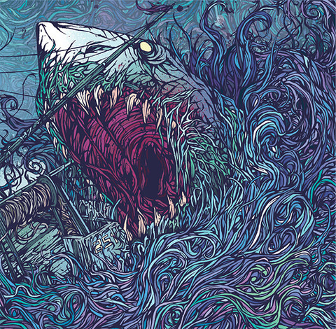Drawn album cover city color By Music In Belly Gallows: