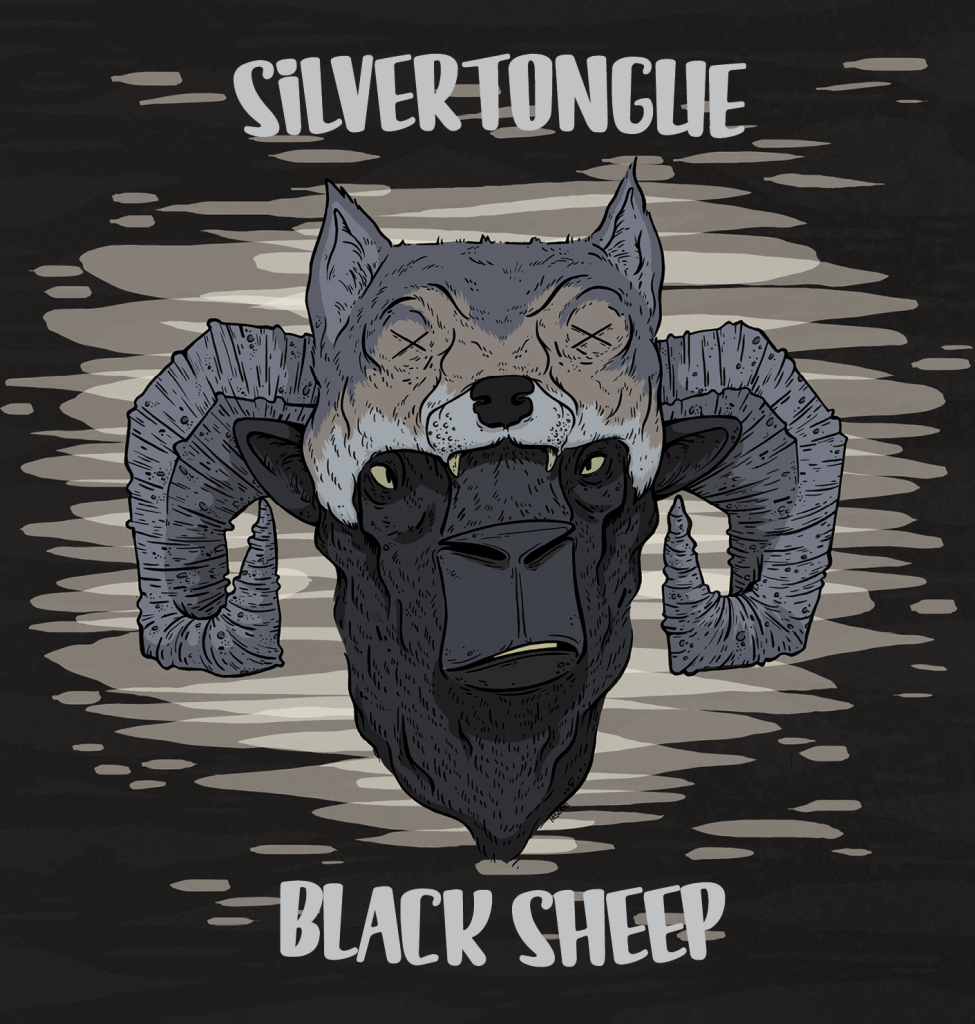 Drawn album cover colourful Silvertongue out Created manyformatt with