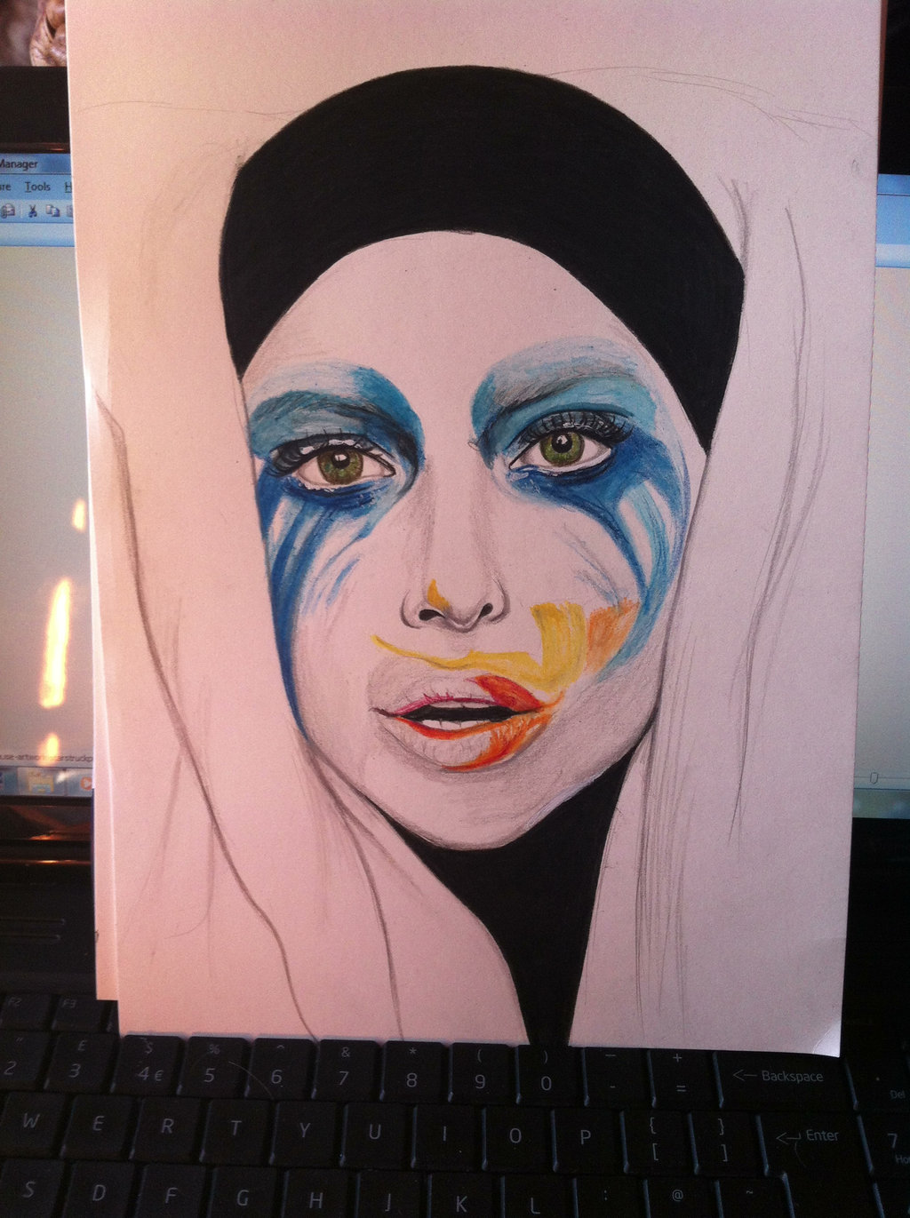 Drawn album cover colourful Art by Drawing by Gaga