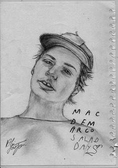 Drawn album cover illustration Calificación: Demarco DeMarco 8