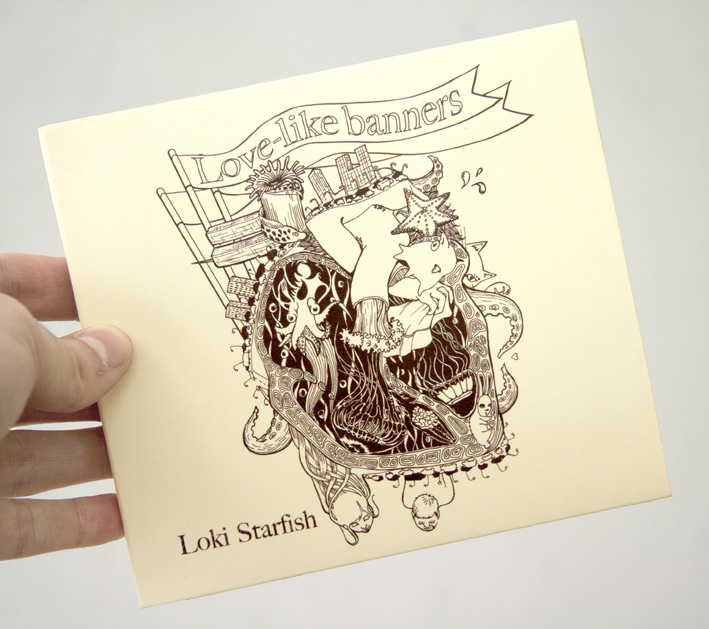 Drawn album cover illustration At & since 2011 and