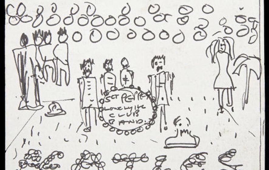 Drawn album cover illustration Sketch under in US John