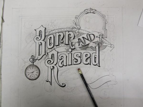 Drawn album cover illustration ADEL Smith DESIGN A