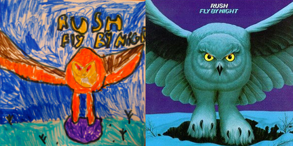 Drawn album cover owl Power to original in this