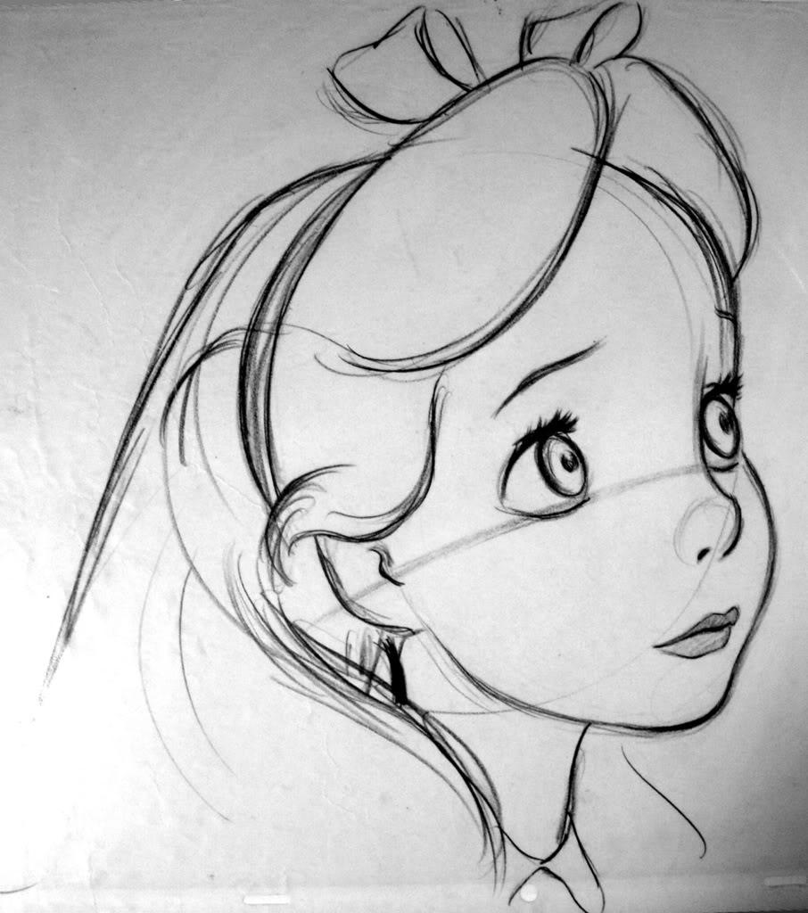 Drawn alice in wonderland #4