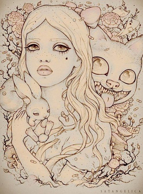 Drawn alice in wonderland alternative Alice images in on Find