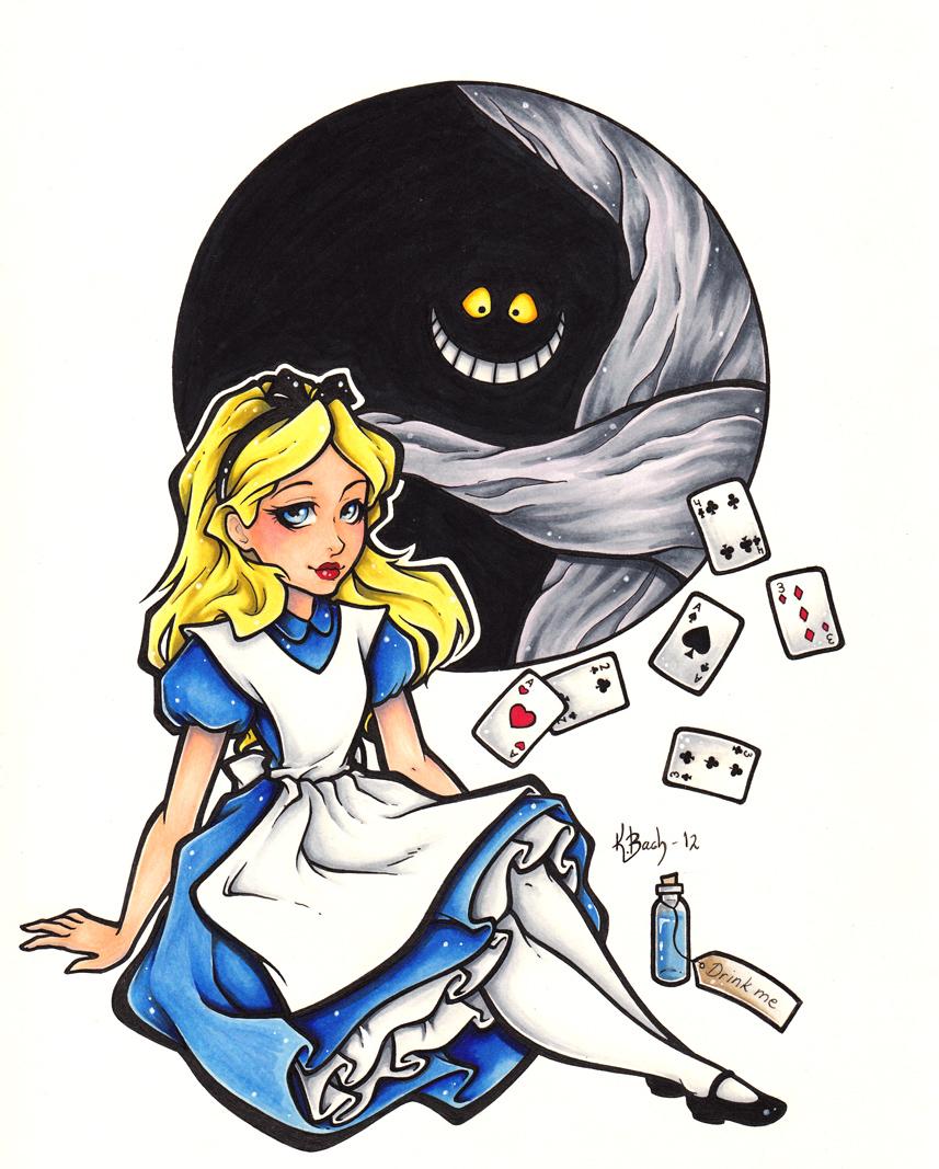 Drawn alice in wonderland disney tradition Wonderland DeviantArt Alice Prize BlueUndine