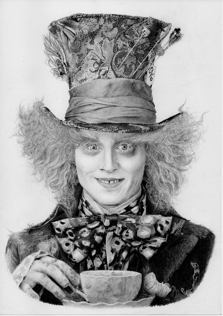 Drawn alice in wonderland mad hatter In Johnny Wonderland Depp Alice