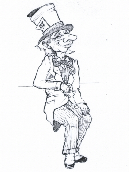 Drawn alice in wonderland mad hatter Doug concept Gallery drawing Pleasure