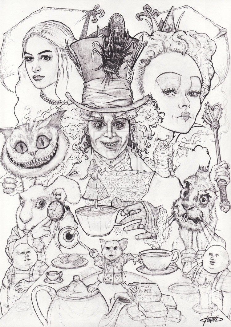Drawn alice in wonderland mad hatter – Madder Hatter Mad Alice_in_Wonderland_by_jwalton9