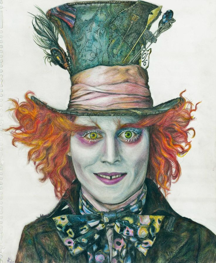 Drawn alice in wonderland mad hatter 100 recent drawing drawing Mad