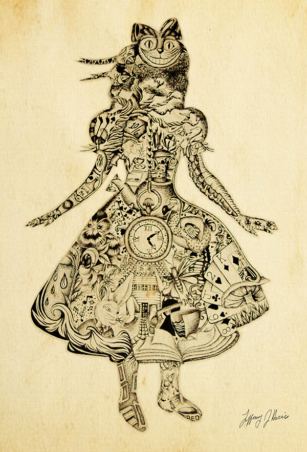 Drawn alice in wonderland old In of Collage Pinterest Alice
