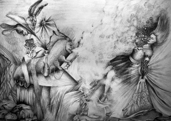 Drawn alice in wonderland old Draw draw Old vBlackDevilv Alice