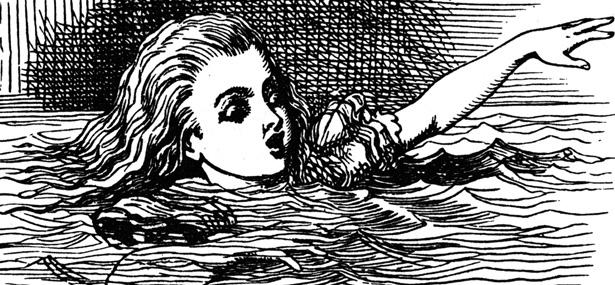Drawn alice in wonderland old Mary Alice  in Birthday