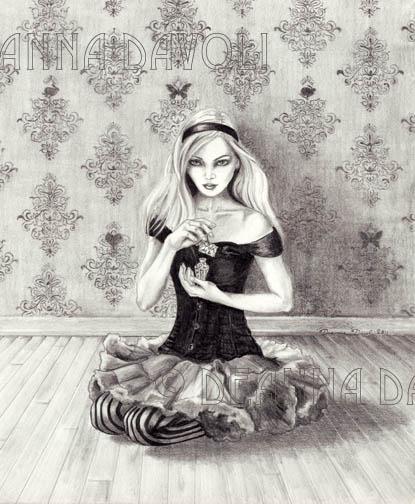 Drawn alice in wonderland pencil Drink drink fantasy  tale