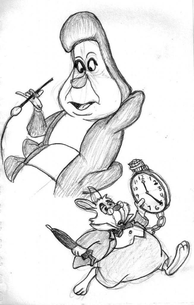 Drawn alice in wonderland pencil Wonderland In Wonderland Alice Pencil