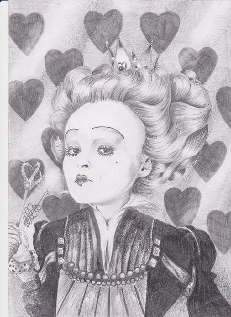 Drawn alice in wonderland pencil Alice Evans Original Queen Red