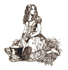 Drawn alice in wonderland pencil Picture Realistic In Drawing Wonderland
