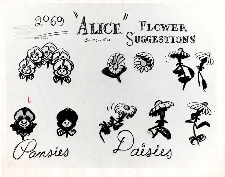 Drawn alice in wonderland rose #10