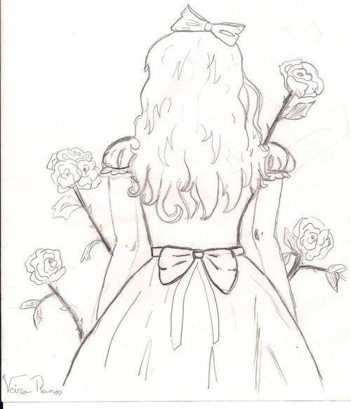 Drawn alice in wonderland rose #14