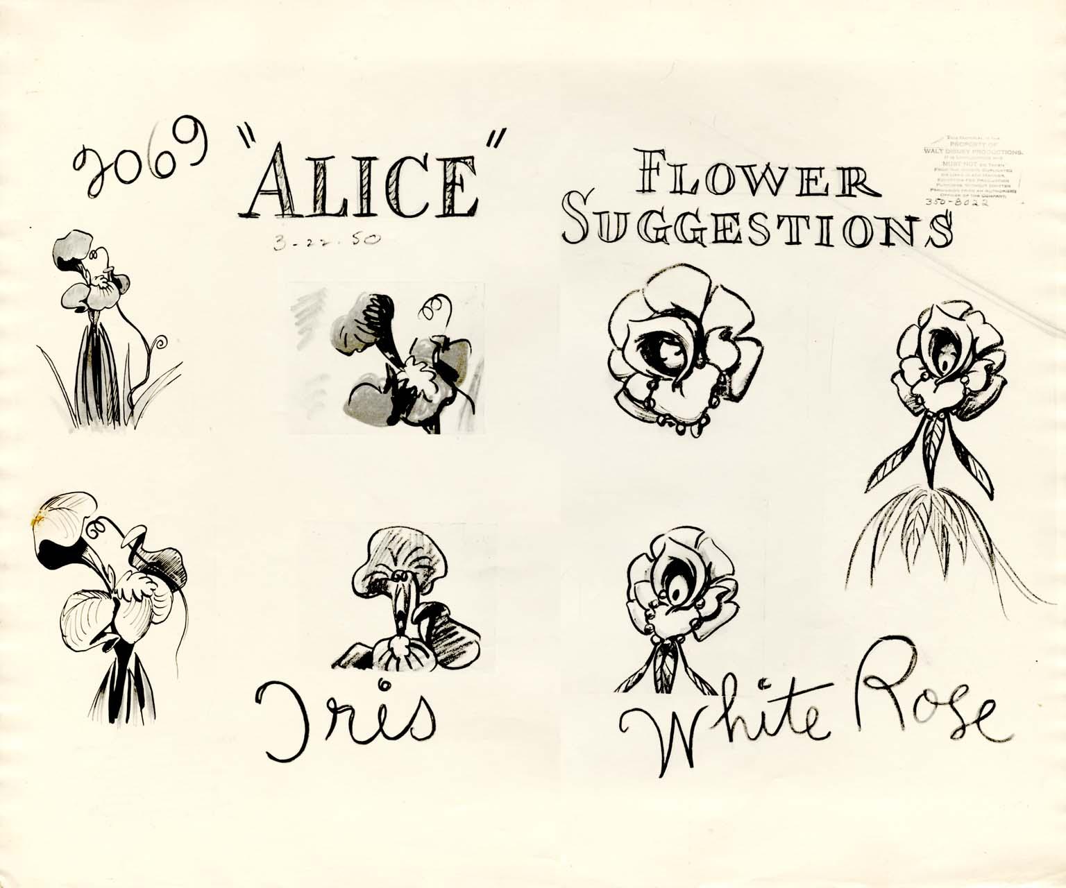 Drawn alice in wonderland rose #9