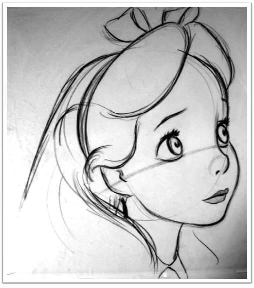 Drawn alice in wonderland sketch Little from from sketches