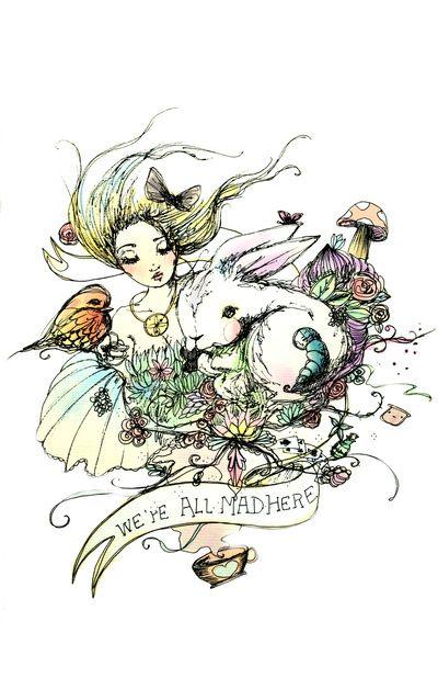 Drawn alice in wonderland star wars #15