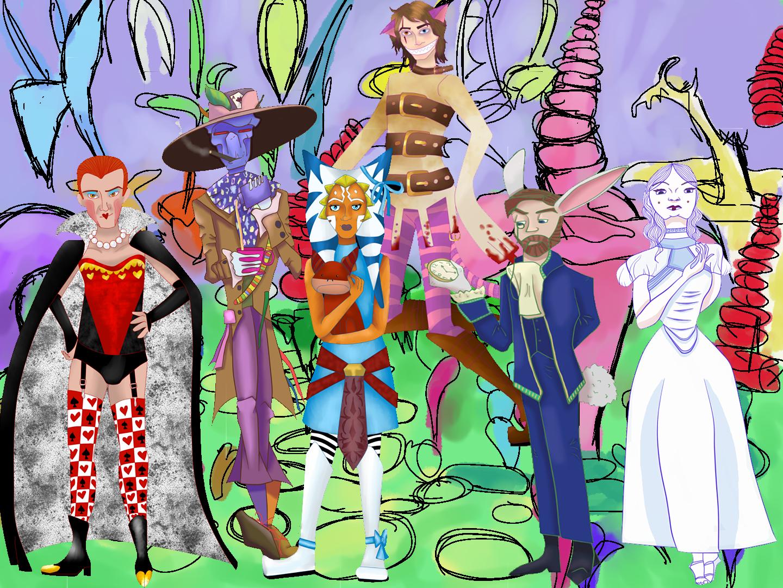 Drawn alice in wonderland star wars #5