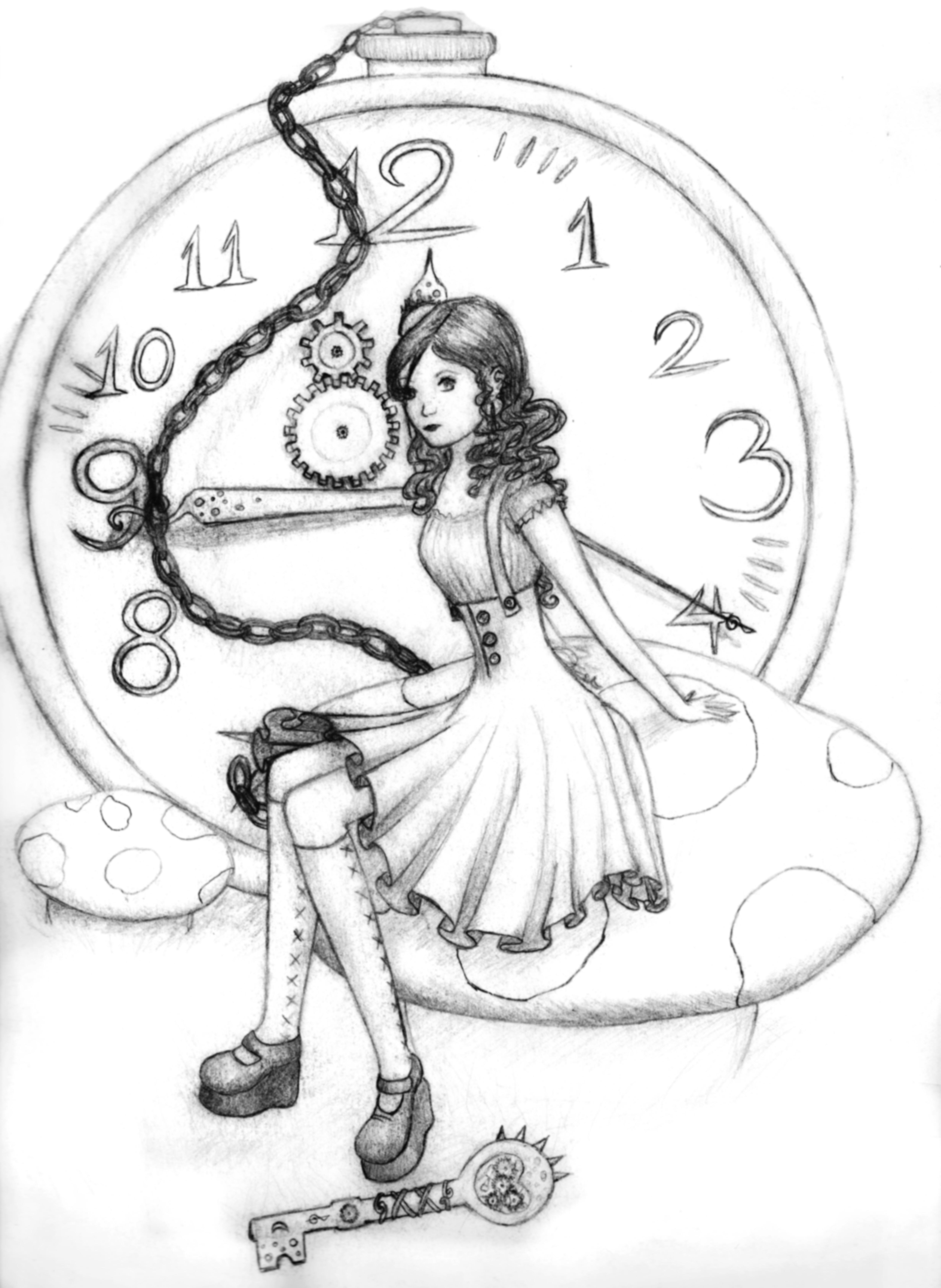Drawn alice in wonderland steampunk Alice (5068×6936) (5068×6936) Alice Wonderland