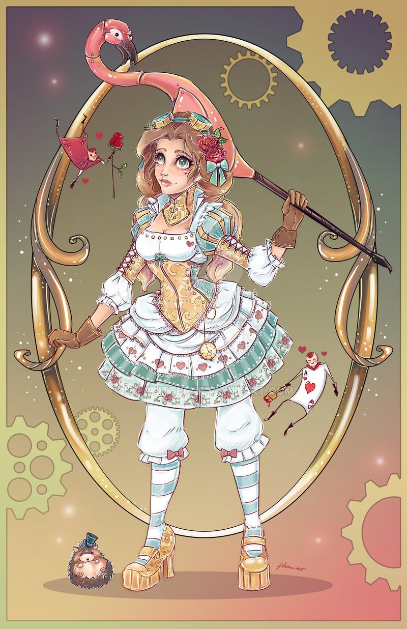Drawn alice in wonderland steampunk NoFlutter by by in Alice