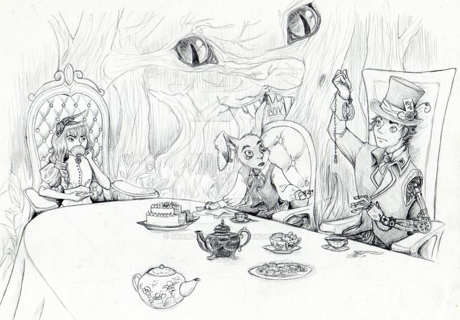 Drawn alice in wonderland steampunk By by steampunk in Kitsune88