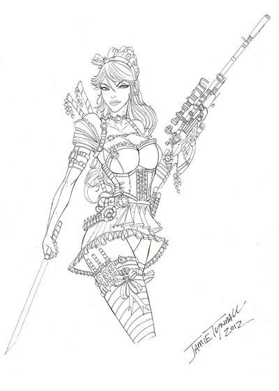 Drawn alice in wonderland steampunk Steampunk Commission @DeviantArt com in