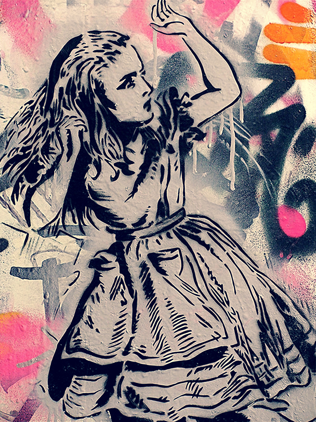Drawn alice in wonderland street art Details Art about Wonderland Wonderland