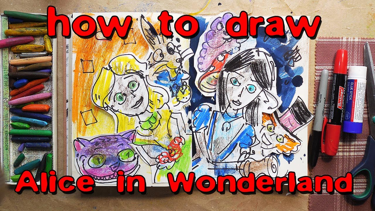 Drawn alice in wonderland street art YouTube in draw Alice How
