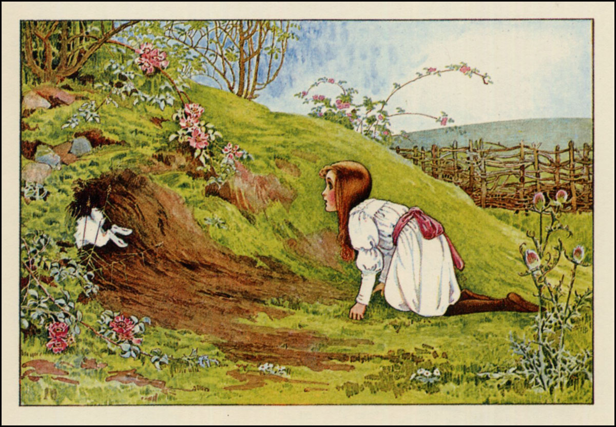 Drawn alice in wonderland the rabbit hole drawing #14
