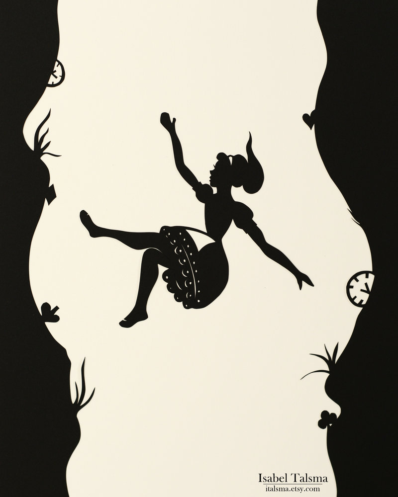 Drawn alice in wonderland the rabbit hole drawing #12