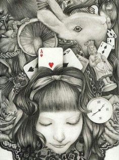 Drawn alice in wonderland the rabbit hole drawing #5