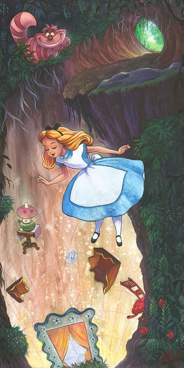 Drawn alice in wonderland the rabbit hole drawing #2