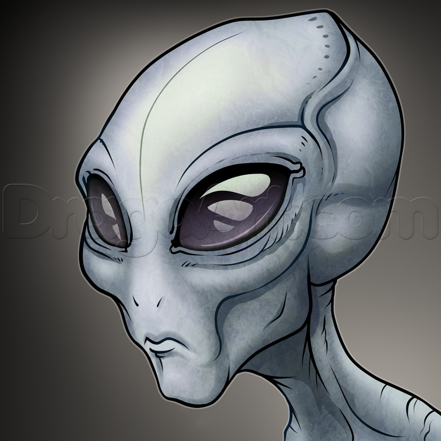 Drawn alien Sci The fi by a