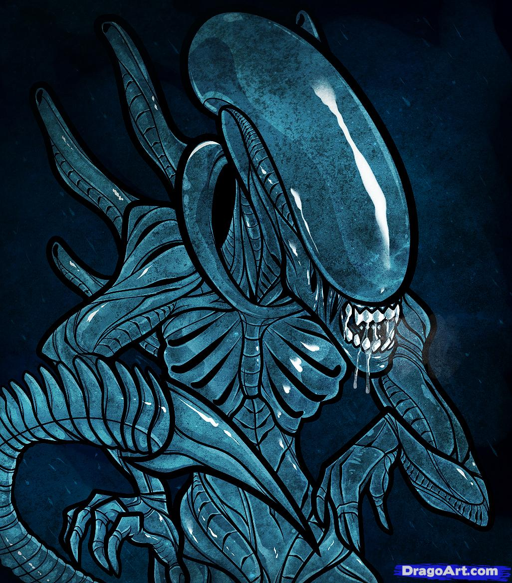 Drawn predator tracker An Step Draw alien AVP