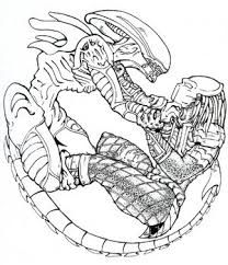 Drawn predator xenomorph Drawing predator vs drawing Google